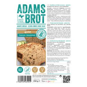 ADAM'S BROT, PRÉPARATION POUR UN PAIN DORÉ ET SANS GLUTEN